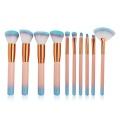 Orange Foundation and Eyeshadow Makeup Brush Set