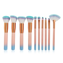Orange Foundation and Eyeshadow Makeup Brush Set