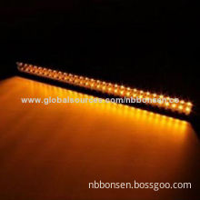 """Dual-color light bar, 20"""" 120W and 50"""" 288W Off-road LED light bar, amber and white double colors"""
