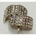 Attractive Rhinestone Shoe Clips, Sparking Rhinestone Garment Clips