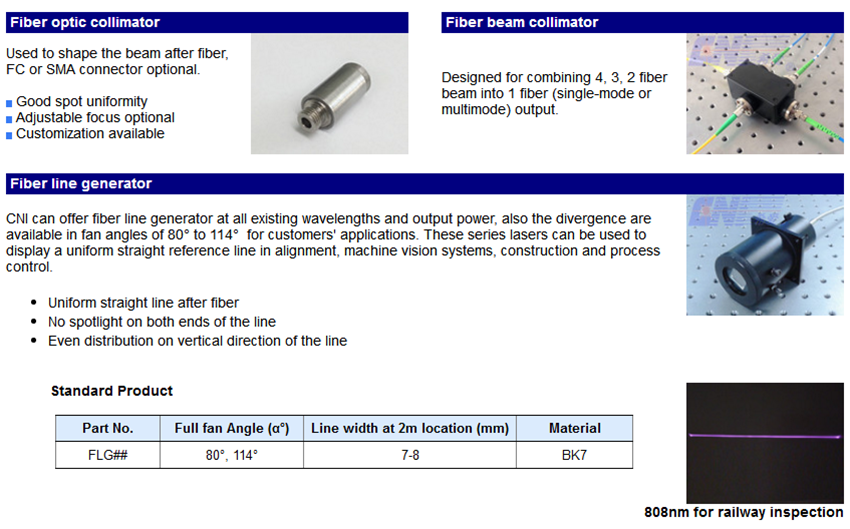 Accessories for laser coupling