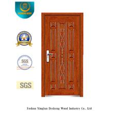 Porta de segurança de aço clássica com escultura (b-6011)