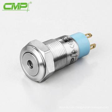 Interruptor de botón de encendido y apagado de timbre de 12 mm