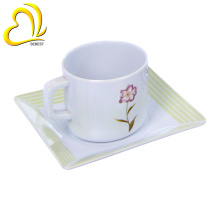 custom new design melamine ware set coffee cup and saucer