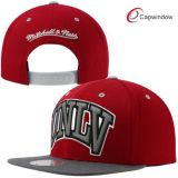 Red and Grey Adjustable Snapback Hat with 3D Embroidery