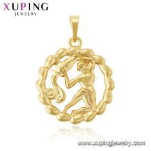 33756 xuping Dubai 24k gold plated fashion 12 horoscope new design pendant