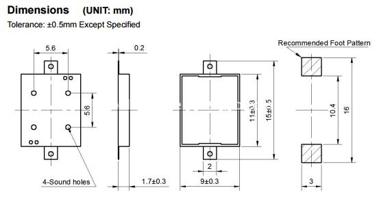 11mm SMT buzzer