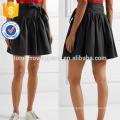New Fashion Belted Stretch Cotton Poplin Summer Mini Daily Skirt DEM/DOM Manufacture Wholesale Fashion Women Apparel (TA5031S)