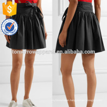 New Fashion Belted Stretch Cotton Poplin Summer Mini Daily Skirt DEM/DOM Manufacture Wholesale Fashion Women Apparel (TA5031S)