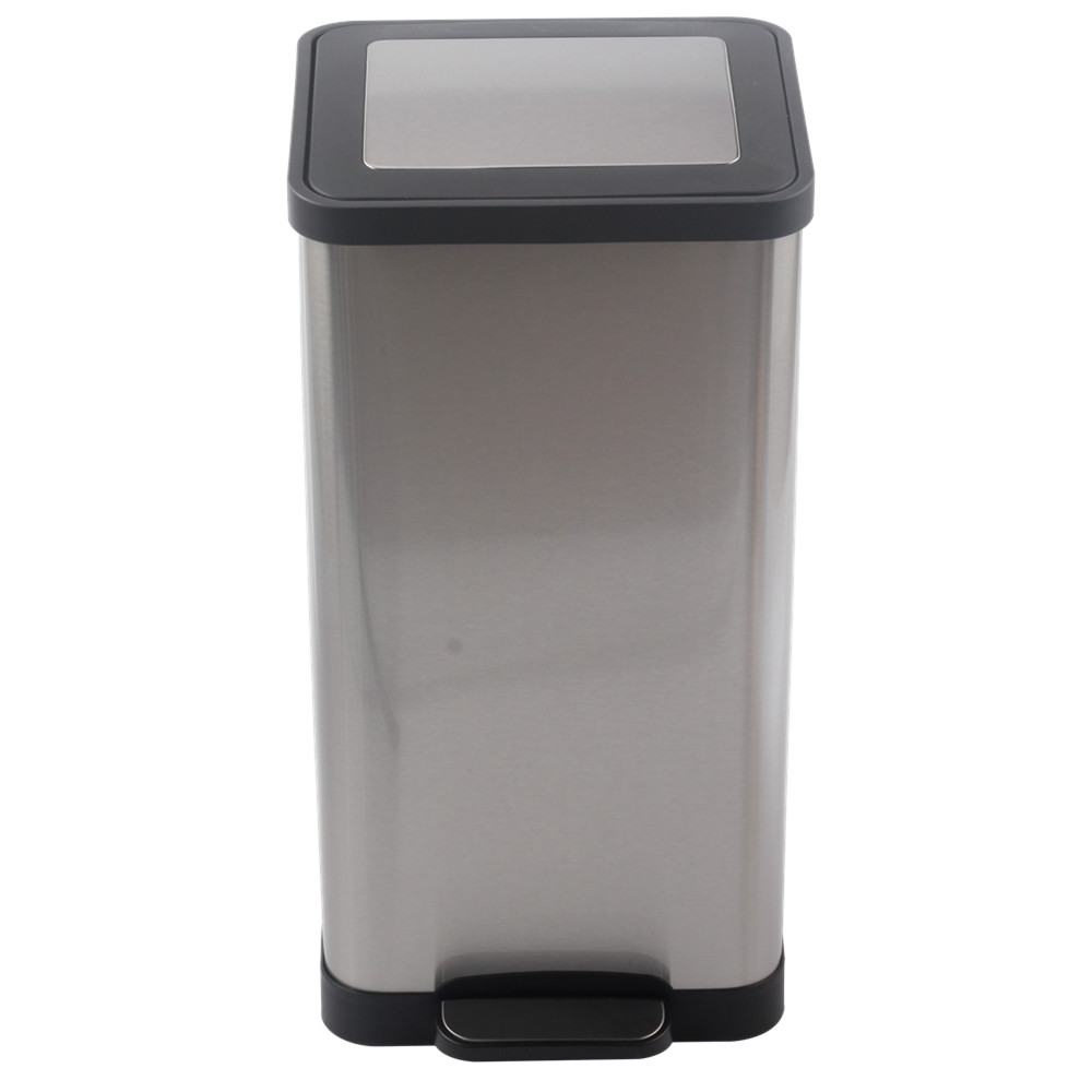 Silver Foot Step Trash Can