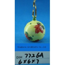 Christmas Tree Decorative Hand-Painted Ceramic Hanging Ball