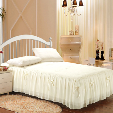 100% microfibra babado saia da cama montado saia da cama