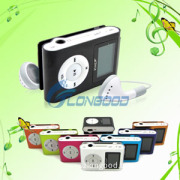 Metal Mini MP3 Player with Screen Clip Micro SD TF Slot