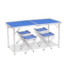 Tabla de diseño portátil de altura regulable en aluminio mesa de camping plegable