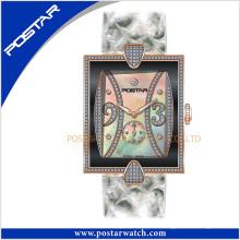 Mode charmante de bonne qualité montre-bracelet dames en acier inoxydable Psd-2371
