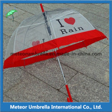 23inches Straight Auto Open PVC Transparent Apollo Bubble Umbrella