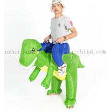 Traje inflável do terno do dinossauro do festival feito sob encomenda para o desempenho