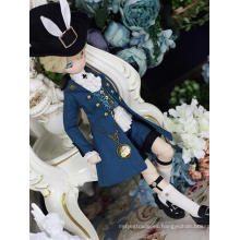 Bjd Clothes Traje rojo / azul para muñeca articulada con bola MSD