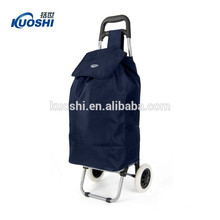 folding shopping trolley bag with 2 wheels