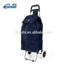 saco de carrinho de compras dobrável com 2 rodas