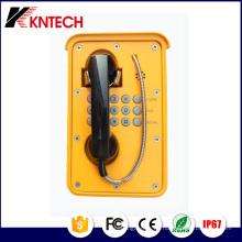 Teléfono industrial a prueba de mal tiempo del teléfono ferroviario impermeable del ferrocarril Knsp-09