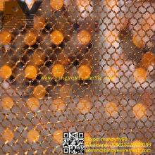 Divisória de sala de cortina de metal com malha de fio