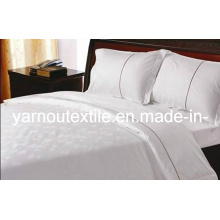 Embroidery Hote Flat Sheet/White Hotel Flat Sheet/Bed Sheets (YNL084)
