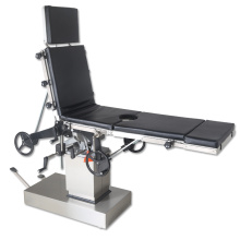Manual integrated operating table