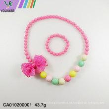 venta al por mayor collar de dulces para niños conjunto de joyas de chicle