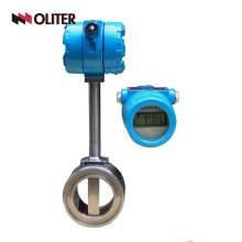 gasolina gasolina fluxo de gasolina medidor de fluxo de vórtice hidráulico com LED