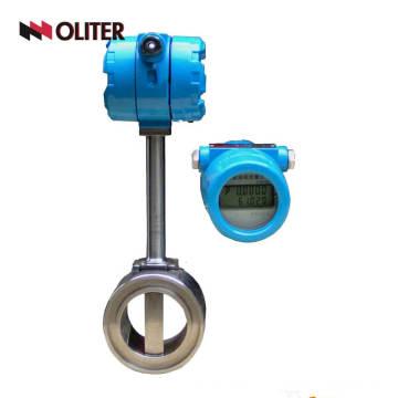 gas water oil gasoline flowmeter hydraulic vortex flow meter with LED