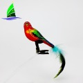 lovely beautiful glass bird ornaments for party decoration