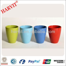 Dolomita Pintura Planter / Porcelana Color Glaze Flower Pot Planta Pot / Venta Al Por Mayor Diferentes Tipos Garden Bulk Flower Pots