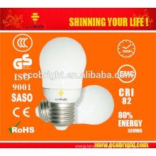 Novo! Mini Super 7W pera CFL lâmpada 10000H CE qualidade