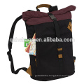 Rolltop Laptop Backpack Roll Top with Padded Bottom Bag