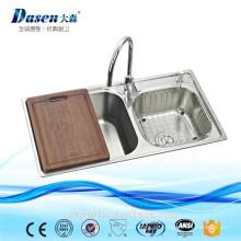 Philippinen Spüle verwendet kommerziellen Doppelschüssel Waschbecken aus Edelstahl 304