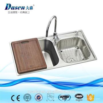 Nuevo fregadero de cocina del acero inoxidable del tazón de fuente de la venta caliente del molde 2016 para el restaurante