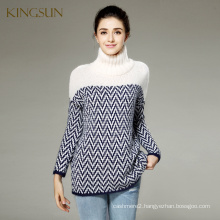 KS-078A Woman Pullover, Woolen Sweater Designs For Ladies,Knit Turtleneck Sweater