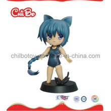 Little Cat Girl Plastic Figure Toy (CB-PM032-S)