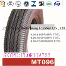 Neumático/neumático de la motocicleta de la motocicleta 4.00-8, 10 4.00 4.00-12