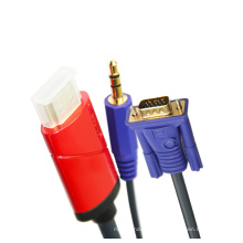 HDMI a VGA + cable audio de 3.5mm (2m, 3m, 5m opcional, YL-C388)