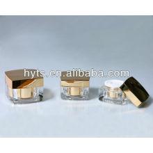 gold square acrylic jar