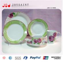 Design personalizado Stocked Conjuntos de Louça De Cerâmica Porcelana Dinner Set 16 PCS 20 PCS 30 PCS