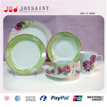 Diseño personalizado Juego de vajilla de cerámica porcelánico Juego de cena porcelánico 16PCS 20 PCS 30PCS