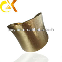 stamping stainless steel bangle with gold plating