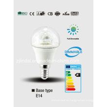 Crystal LED regulable bombilla G45-T
