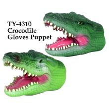 Puppet engraçado das luvas de crocodilo