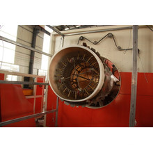 Efficient HDPE pipe production line