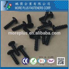 Feito em Taiwan Phil Drive # 5 Pan Head Black Zinc Plated CR3 + Particle Board Screw