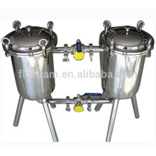 Excellent Stainless Steel Sanitary Food Grade Double Barrel Filter